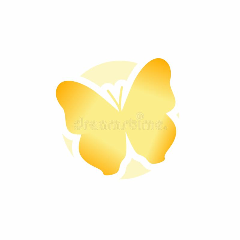 Butterfly Icon, Cute Cartoon Funny Character with Colorful Wings, Flying Insect, Flat Design. This is `Butterfly Icon, Cute Cartoon Funny Character with Colorful royalty free illustration