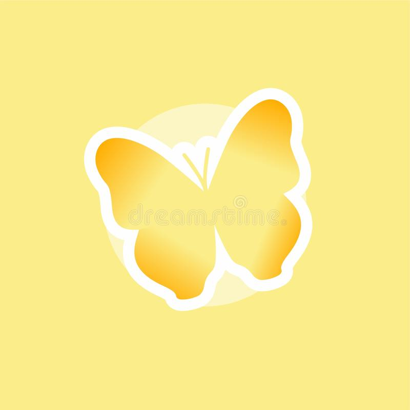 Butterfly Icon, Cute Cartoon Funny Character with Colorful Wings, Flying Insect, Flat Design. This is `Butterfly Icon, Cute Cartoon Funny Character with Colorful vector illustration