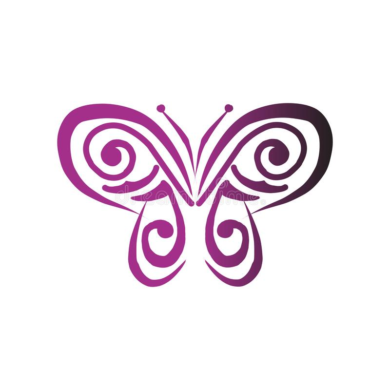 Butterfly icon in trendy design style. vector illustration