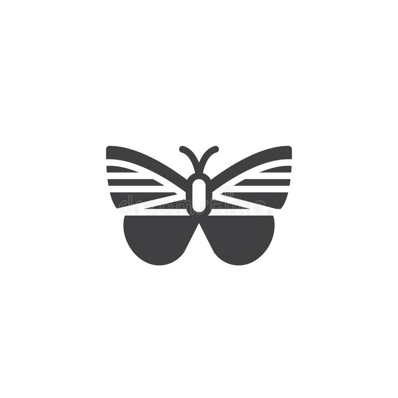 Butterfly icon vector. Filled flat sign, solid pictogram isolated on white. Moth symbol, logo illustration vector illustration