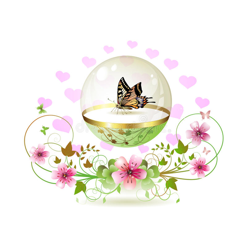 Butterfly isolated stock illustration
