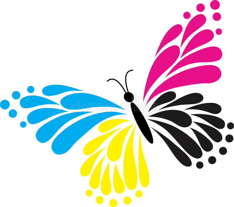 Butterfly logo. Illustration art of a butterfly logo with isolated background