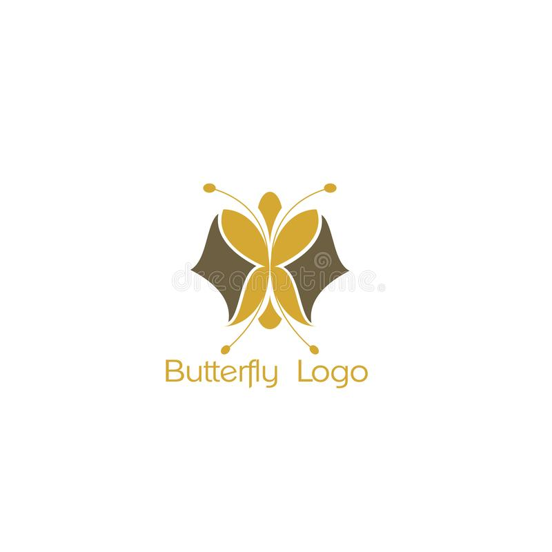 Butterfly logo icon, abstract heart. Butterfly. Logo For Beauty Salon With Colorful Butterfly And Text Butterfly vector illustration