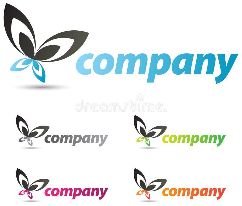 Butterfly Logo Design stock illustration