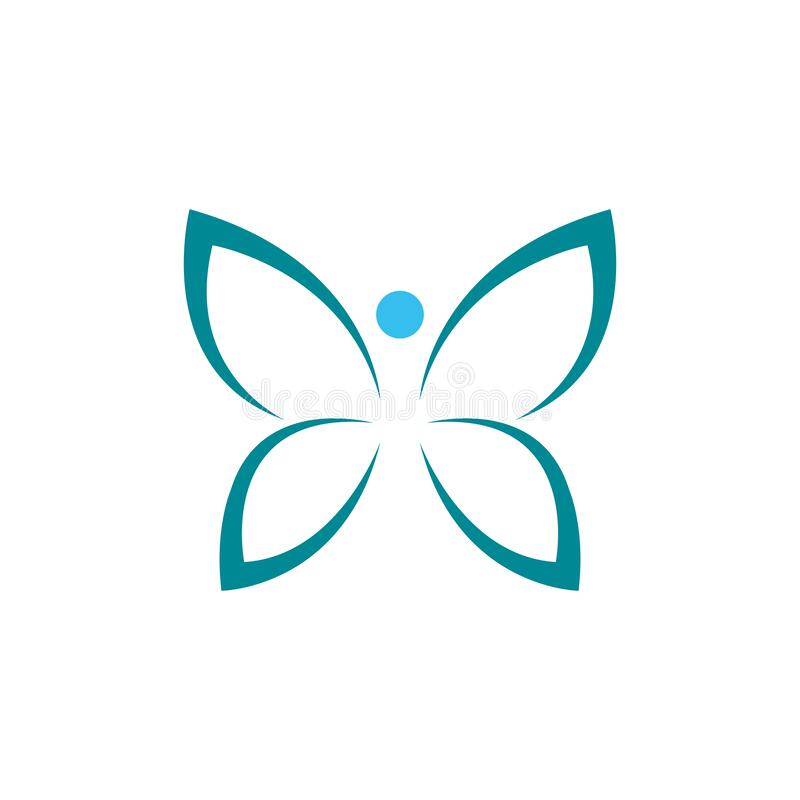 Butterfly logo design illustration on white background.  royalty free illustration