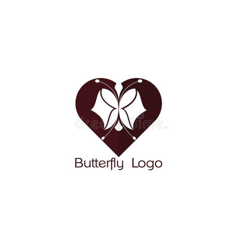 Butterfly logo icon, abstract heart. Butterfly. Logo For Beauty Salon With Colorful Butterfly And Text Butterfly. Emblem Template For Bra vector illustration