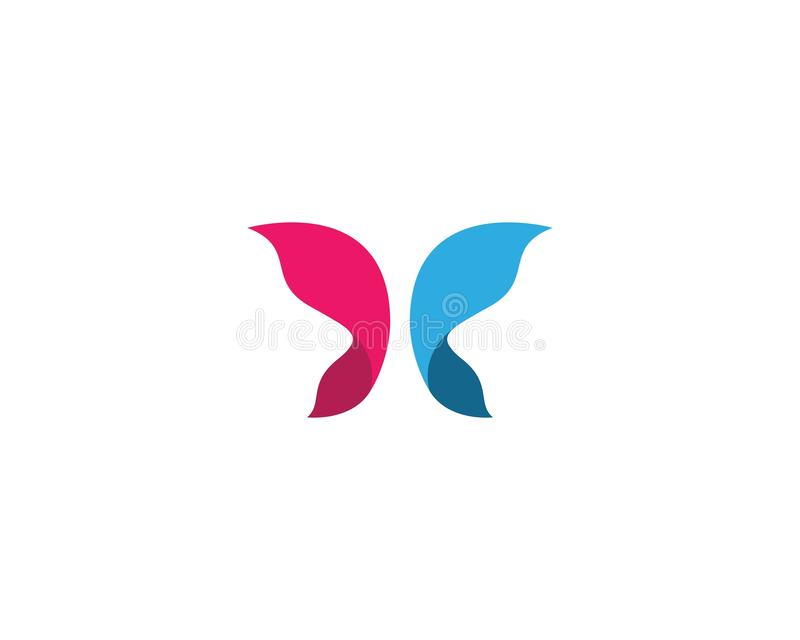 Butterfly logo template royalty free illustration