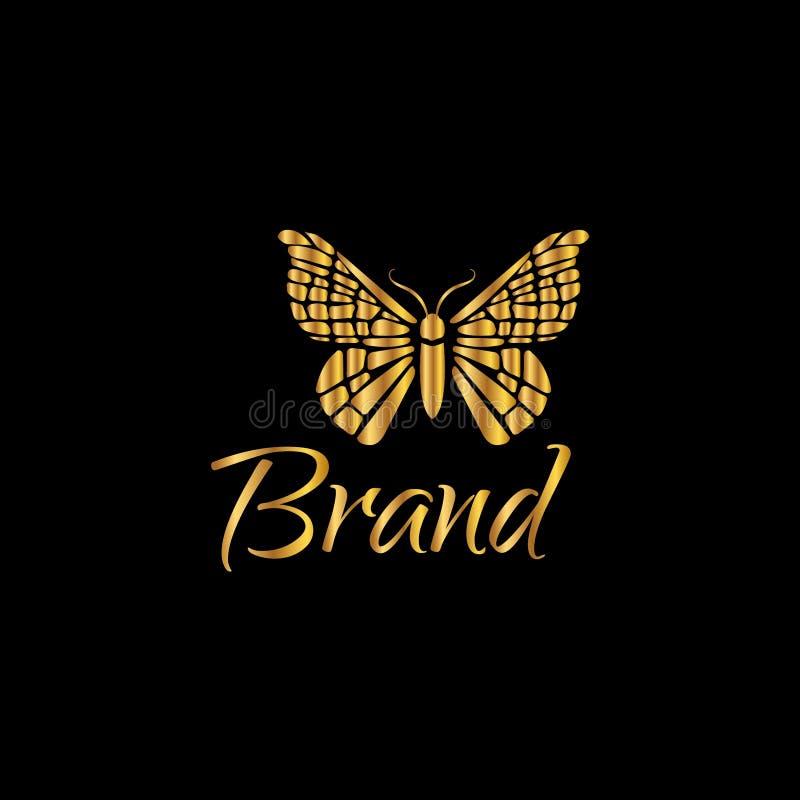 Butterfly logo template. Vector illustration. Fashion design element vector illustration