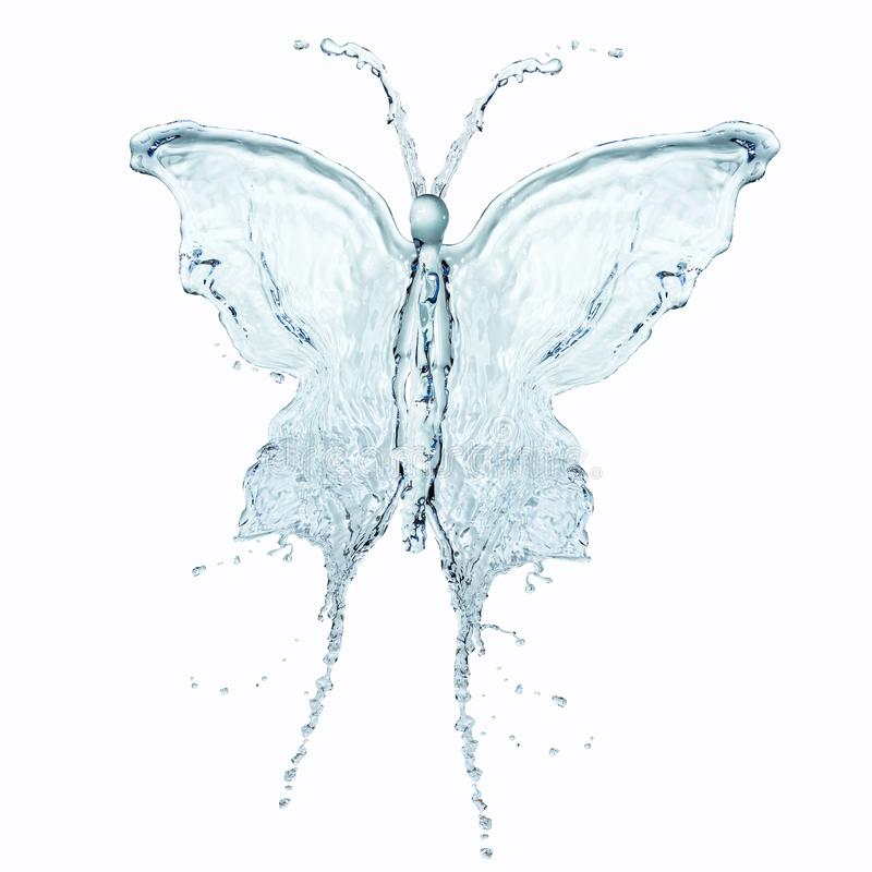 Water butterfly royalty free stock photo
