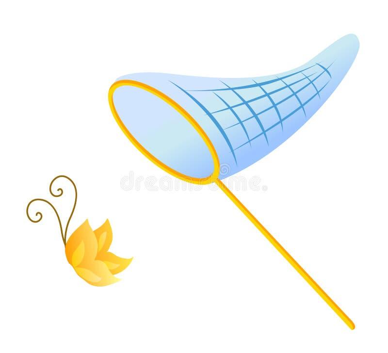 Butterfly net vector illustration