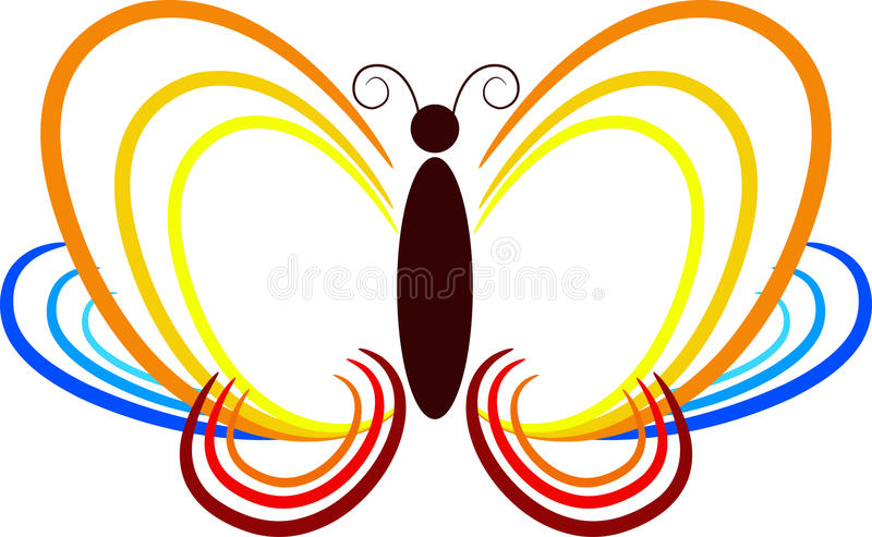 Download Butterfly out line stock vector. Image of graphic, flutter - 25104405