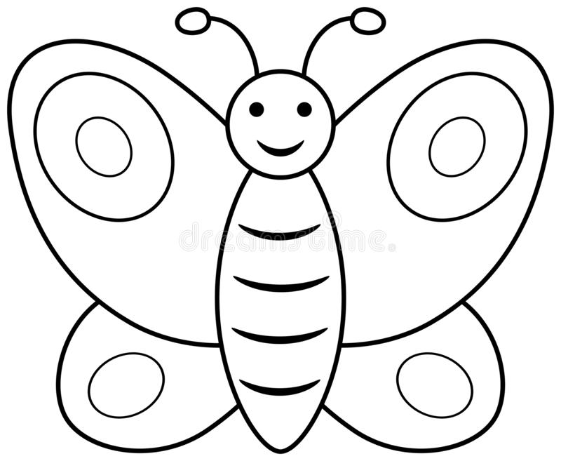 butterfly outline clipart vector coloring book page children illustration
