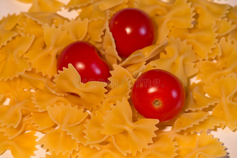 Butterfly pasta and pachino royalty free stock photos