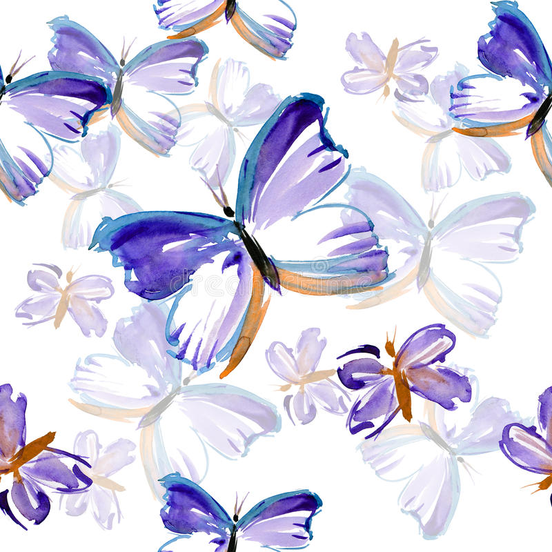 Butterfly pattern royalty free illustration