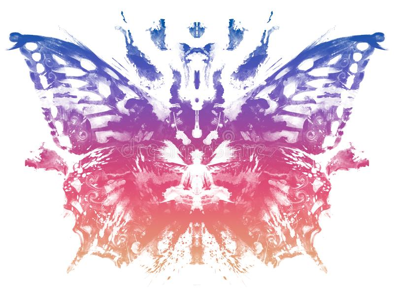 Butterfly pattern Rorschach Test style vector illustration