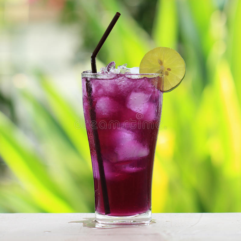Butterfly pea juice royalty free stock image