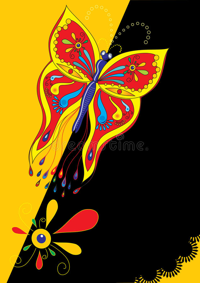 Download Butterfly poster stock vector. Illustration of nature - 17003194