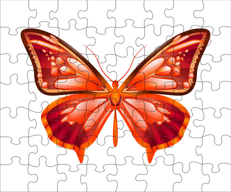 Butterfly puzzle royalty free stock photography