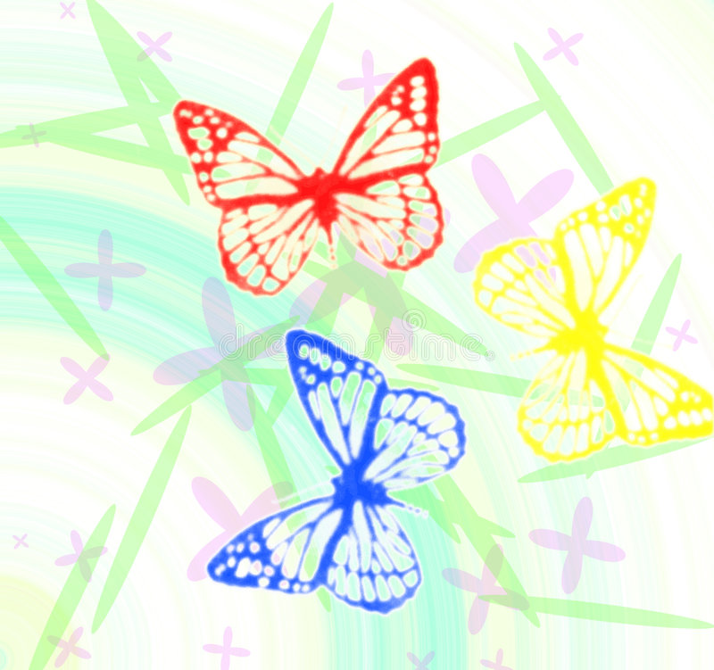 Download Butterfly's stock illustration. Image of background, handmade - 6105146