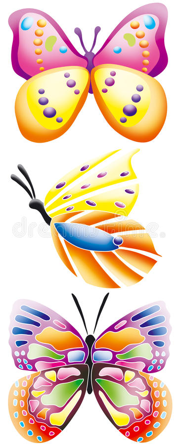 Download Butterfly's stock illustration. Image of illustration - 9696130