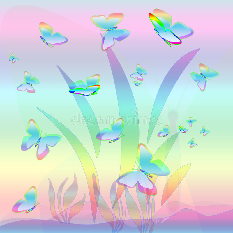 Butterfly's day royalty free illustration