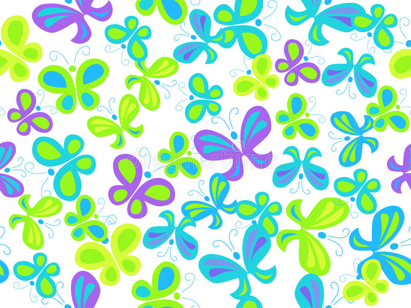 Butterfly seamless pattern. Vector seamless background with butterflies vector illustration