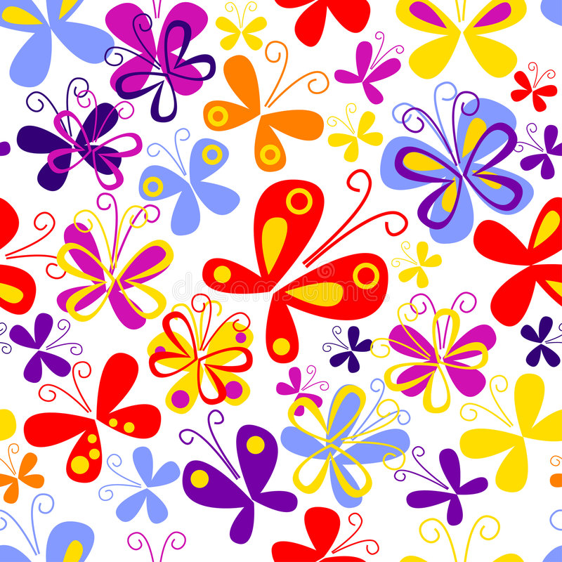 Download Butterfly seamless pattern stock vector. Illustration of lines - 6849441