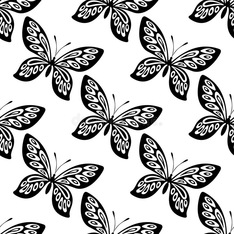 Download Butterfly Seamless Pattern Stock Vector Illustration Of Blue
