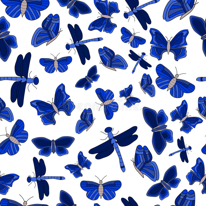 Butterfly seamless pattern royalty free stock photo