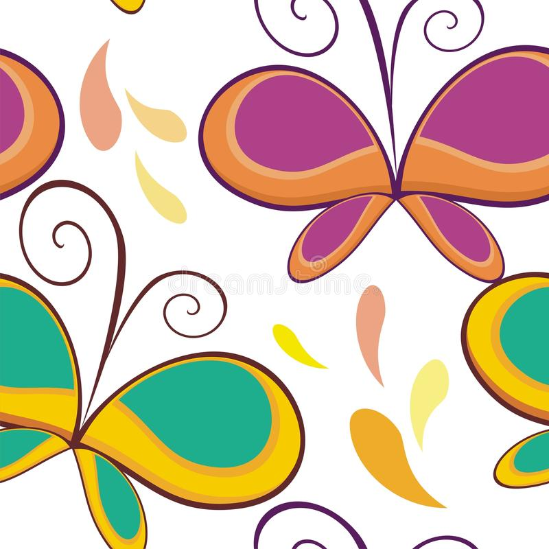 Butterfly Seamless pattern design royalty free stock photography