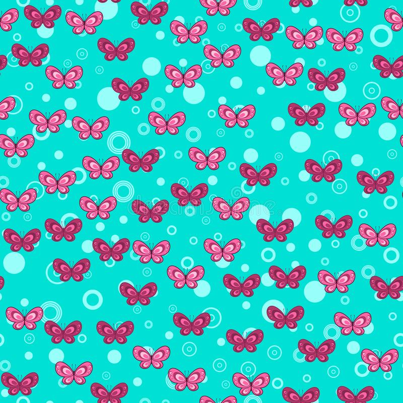 Butterfly seamless pattern on white background. Paper print design. Abstract retro vector illustration. Trendy textile,. Fabric, wrapping. Modern space vector illustration