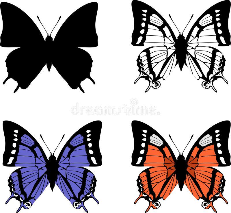 Download Butterfly set 04 stock vector. Image of botany, background - 12203592