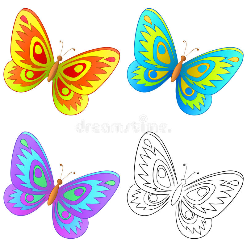 Butterfly, Set Stock Photography