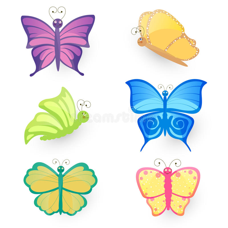 Download Butterfly Set stock illustration. Illustration of nature - 25860183