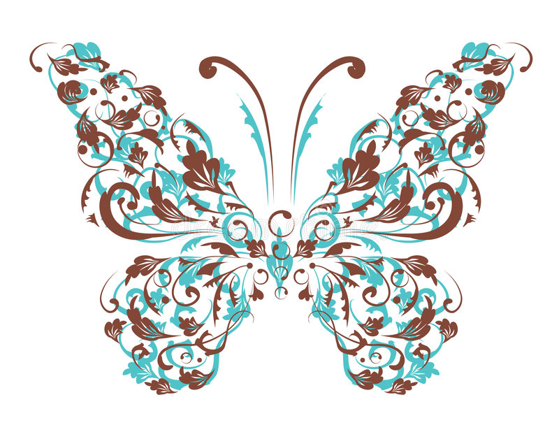 Butterfly silhouette for you design stock illustration