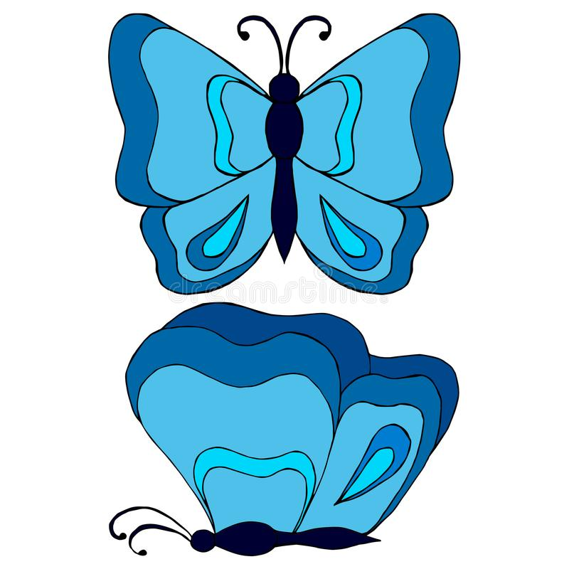 download 2 butterfly sketch in color stock vector illustration of beauty butterfly - Butterflies To Color 2