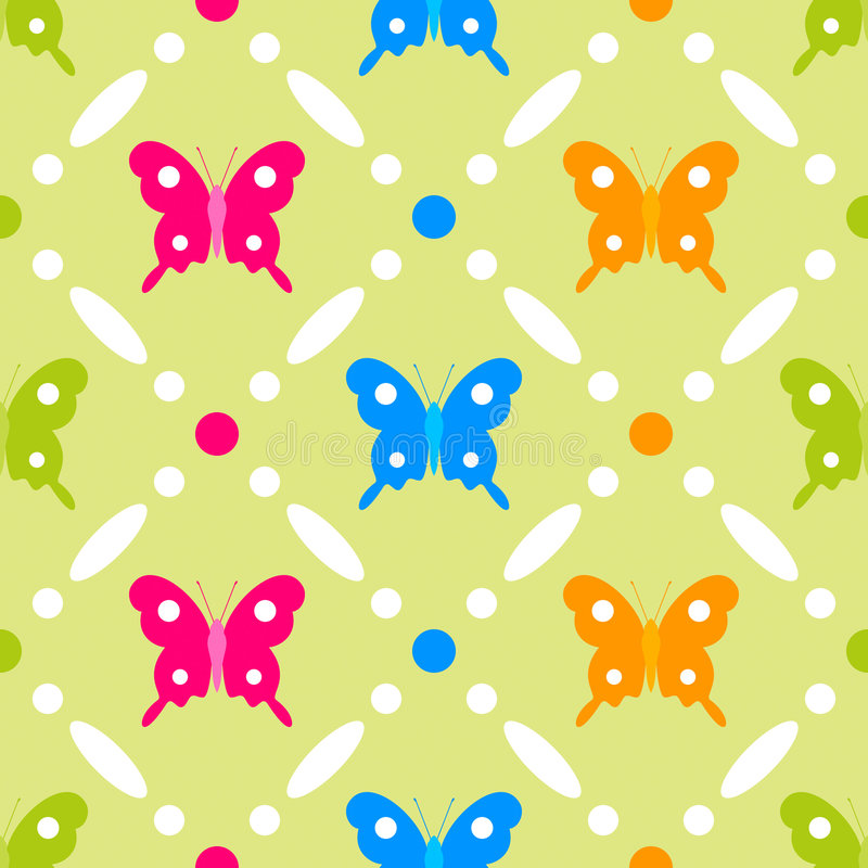 Download Butterfly stitches stock vector. Image of circles, childish - 8003402