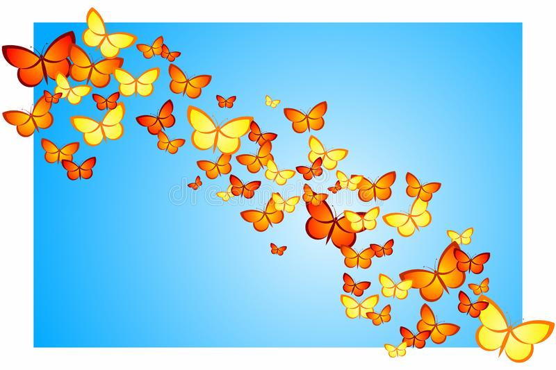 Butterfly Swarm royalty free stock photo
