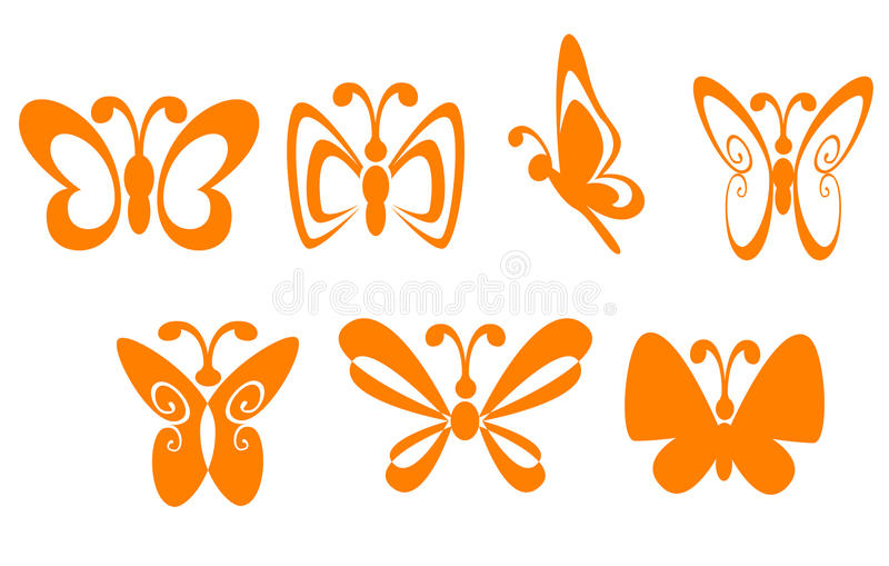 Butterfly symbols stock images