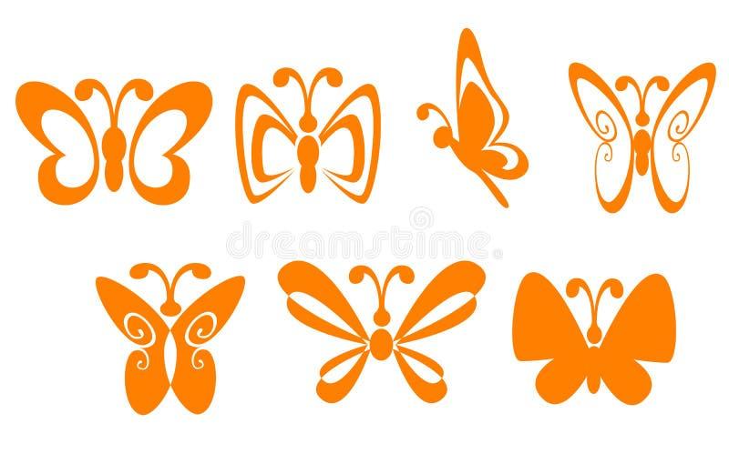 Butterfly symbols vector illustration