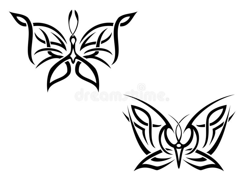 Download Butterfly tattoo stock vector. Image of tattoo, shape - 10398834