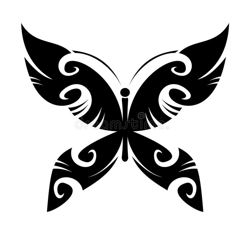 Butterfly tattoo stock image