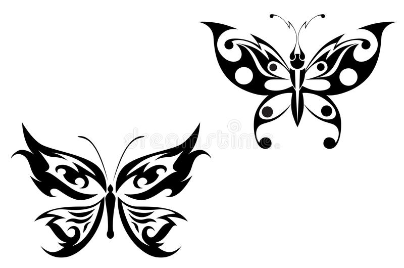 Download Butterfly tattoo stock vector. Image of butterfly, abstract - 10522613