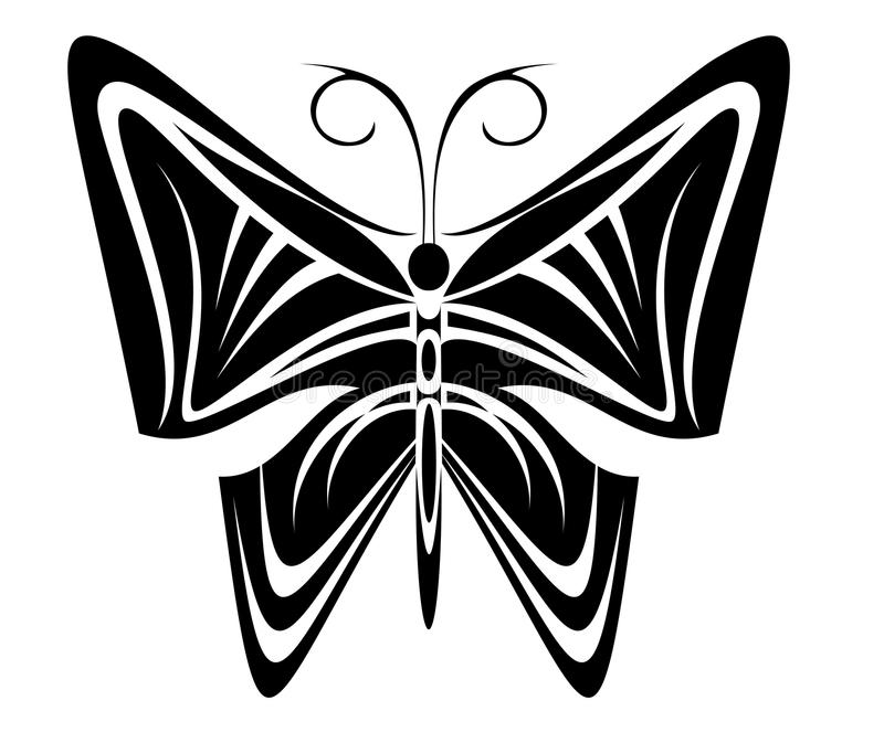 Download Butterfly Tattoo Royalty Free Stock Image - Image: 10522656