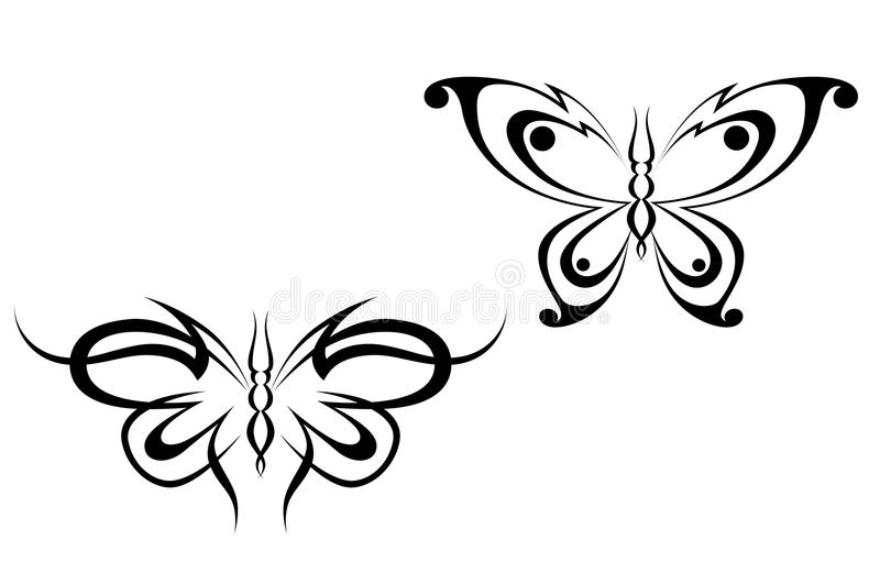 Butterfly tattoo royalty free stock image