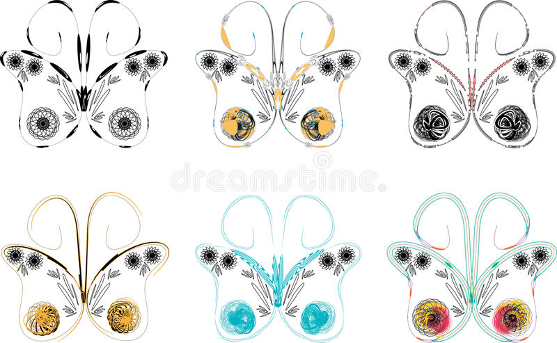 Butterfly tracery royalty free stock image