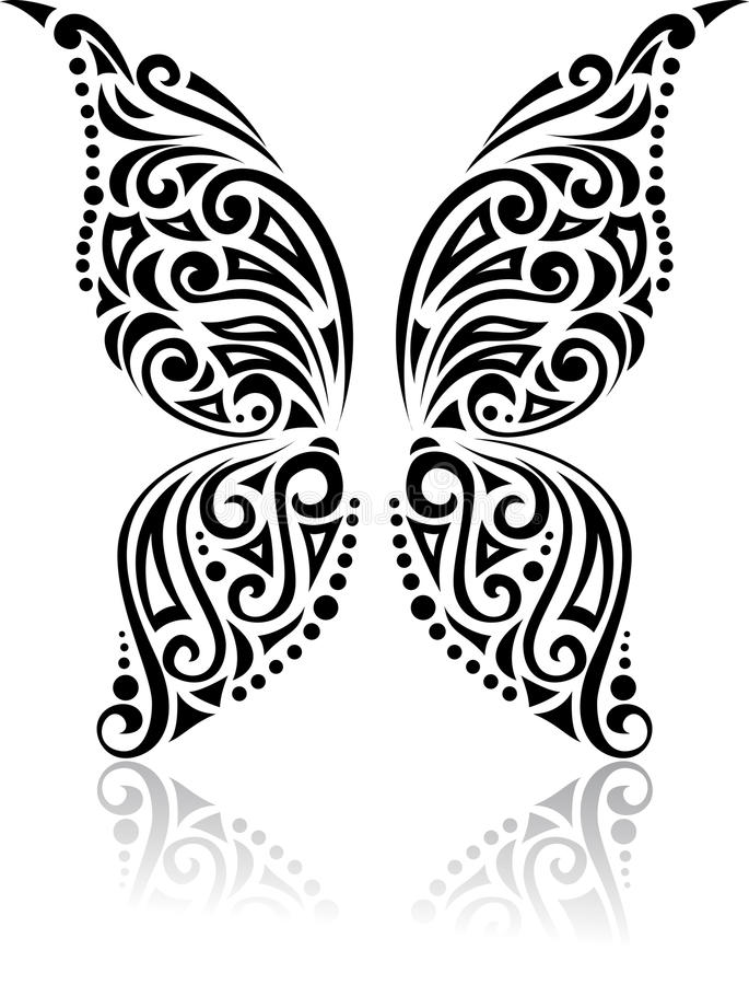 Download Butterfly tribal pattern stock vector. Illustration of design - 26584455