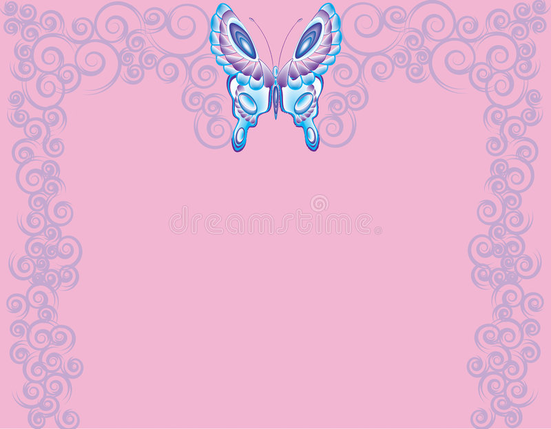 Butterfly twirls stock photography