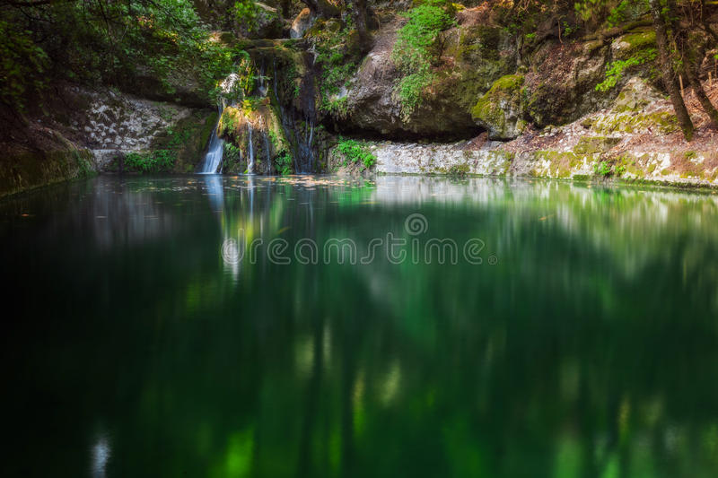 Butterfly Valley, a nature reserve. Rhodes Island. Greece. Greece. Butterfly Valley Nature Reserve (Park), located on the island of Rhodes. On trpah arranged royalty free stock photography
