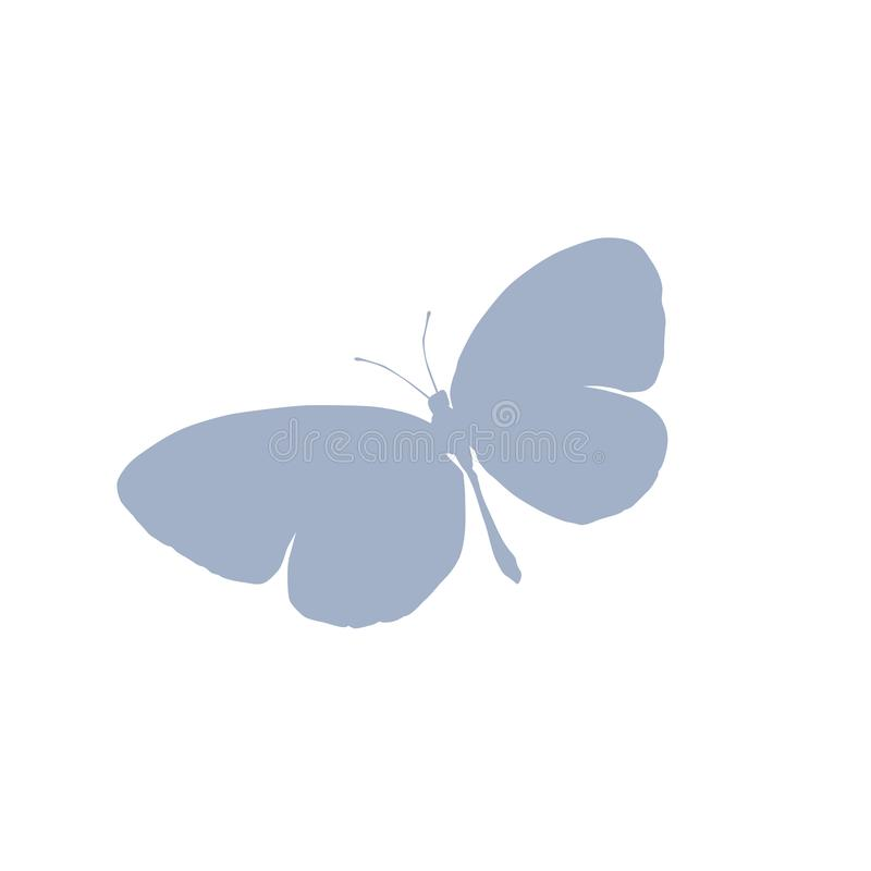 Butterfly vector icon Vector hearts icons set. Stock vector illustration isolated on white background. stock illustration